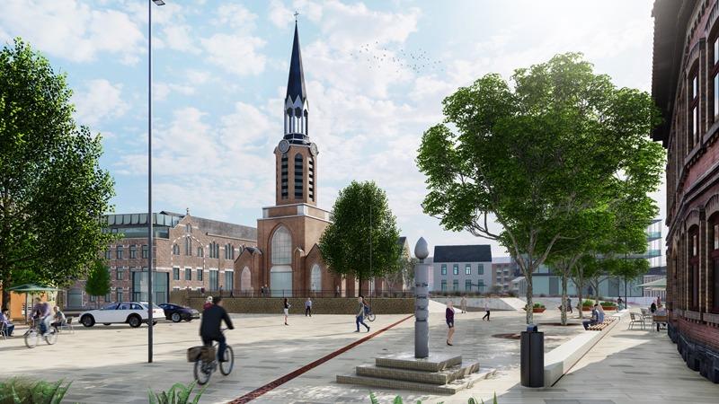 Bouw van een nieuw stadhuis, verbouwing & uitbreiding bibliotheek, publieke ruimte en private (woon-) ontwikkeling, gekoppeld aan de heraanleg van de markt en aanpalende straten