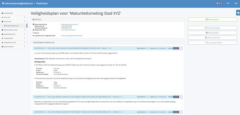 informatieveiligheidstool Vlaamse ICT Organisatie